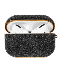 Чехол Kingxbar Crystal Fabric для Apple Airpods Pro Чёрный