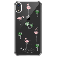 Чехол Kingxbar Tropical Series для iPhone XR Flamingo