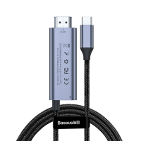 Переходник Baseus C-Video Functional Notebook Cable (Type-C - HDMI) 1.8м Серый